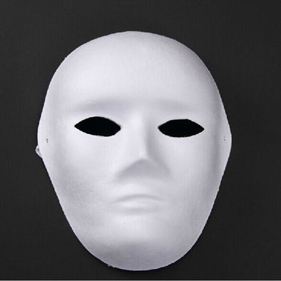 Lot 15 Women Men White Blank Pulp Masks DIY Decorate Blank Face - Cosplay Infinity