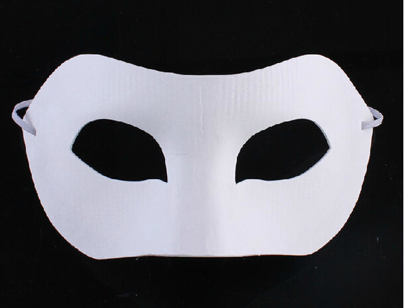 Lot 50  Blank Zorro Mask White for Hand-painting Half Face Mask - Cosplay Infinity