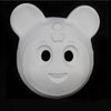 LOT 24 Kids White Blank Mask Form DIY Masquerade Animals Holiday Carnival Party Cosplay - Cosplay Infinity