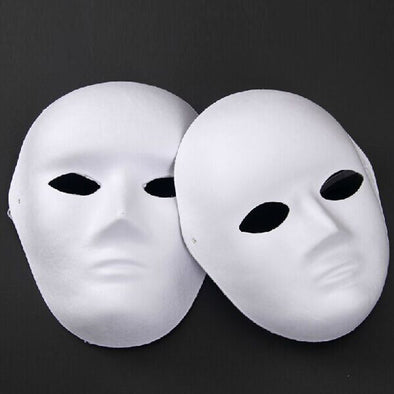 Lot of 40 Unpainted Blank Face Masquerade Mask Women Men DIY Drawing - Cosplay Infinity