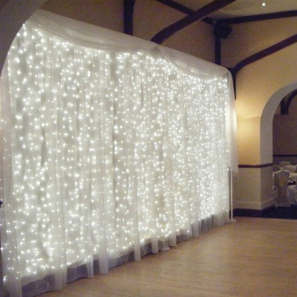 300 LED Home Outdoor Holiday Christmas Decoration Fairy Curtain String Party Lights Wedding Decor - Cosplay Infinity