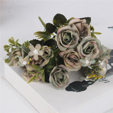 Simulation Silk Tea Rose Flower Bouquet European Style - Cosplay Infinity