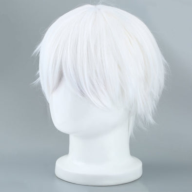 White Tokyo Ghoul Cosplay Wig Short Straight Silver Gray Cosplay Party - Cosplay Infinity