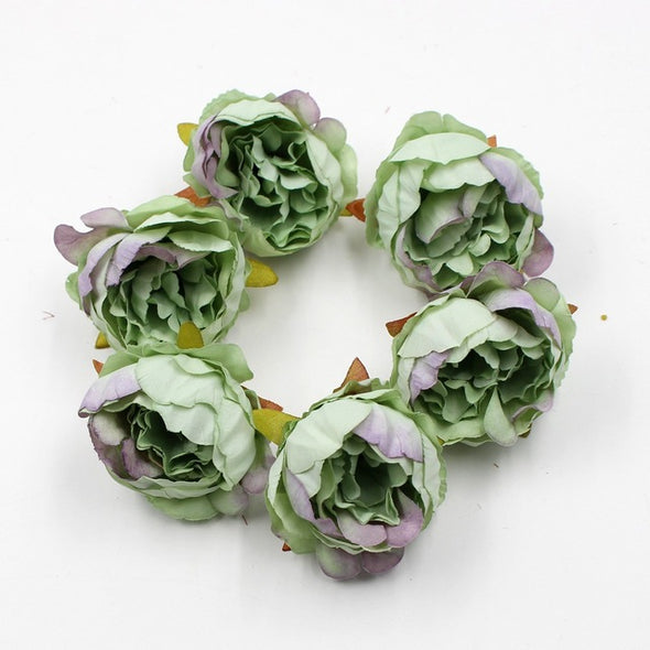 5Pcs Artificial Peony Flower Heads DIY Craft For Home Wedding Party - Cosplay Infinity