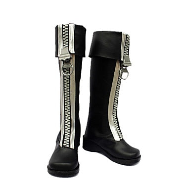 Cosplay Shoes Boots Inspired by D.Gray-Man-Allen White Zipper Brown - Cosplay Infinity