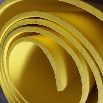 Yellow 2mm-10mm Eva foam sheets cosplay material 50cm*2m, 19in x 78in