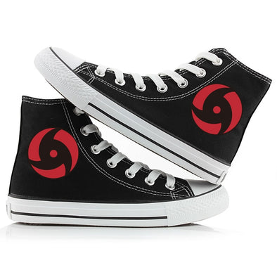 Cool Printed High Tops Breathable Sneakers Unisex Anime Naruto Canvas Shoes