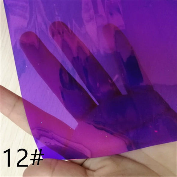 1pcs/7.6*12inch magic mirror vinyl fabric hologram club cosplay - Cosplay Infinity