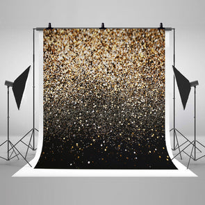 Black Gold Dots Photography Backdrop Glitter Vinyl Fabric Cosplay - Cosplay Infinity