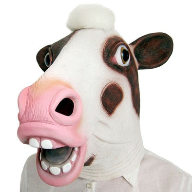 Cosplay Costume Animal Head Cow Squirrel Mask Full Face Latex - Cosplay Infinity