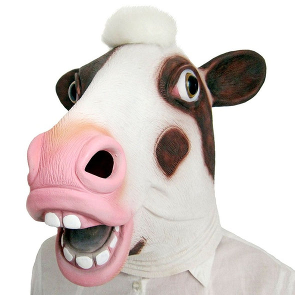 Cosplay Costume Animal Head Cow Squirrel Mask Full Face Latex