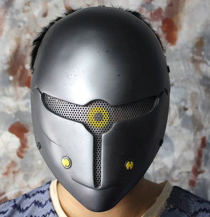 Game Metal Gear Solid Gray Fox Cosplay Mask Full Face Wire Mesh Airsoft Helmet - Cosplay Infinity