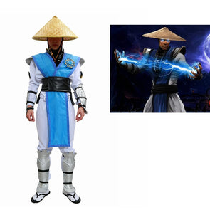Game Raiden Cosplay Costume Mortal Kombat X Raiden Outfit With Full Set Armor Without Hat