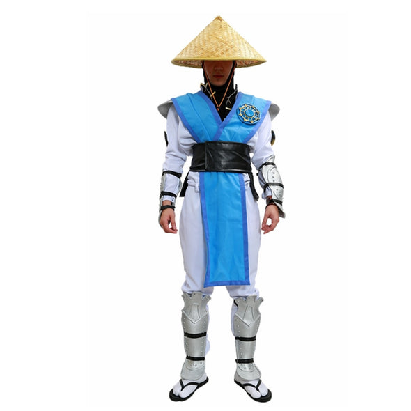 Game Raiden Cosplay Costume Mortal Kombat X Raiden Outfit With Full Set Armor Without Hat - Cosplay Infinity