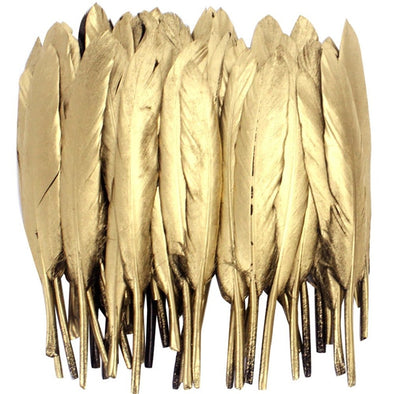 Gold Silver Dipped Goose/Duck Feathers For Crafts Jewelry Accessories Cosplay Wedding