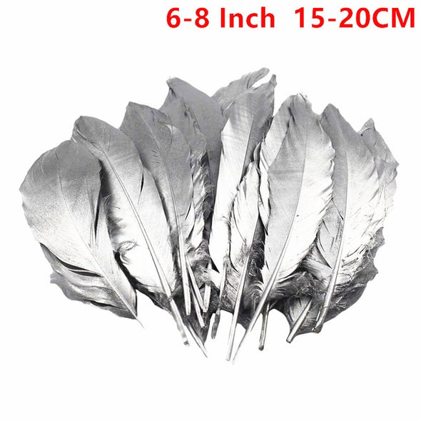 Gold Silver Dipped Goose/Duck Feathers For Crafts Jewelry Accessories Cosplay Wedding - Cosplay Infinity
