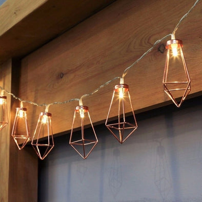 LED Metal Lantern Novelty String Light 10 Leds Battery Holiday Wedding Party Festival Home Curtain Decoration Lamp