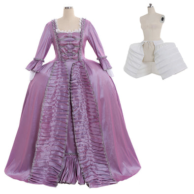 Marie Antoinette Baroque Ball Gown Dress 18th Century Colonial Purple Rococo Belle Dress Custom Made Any Size - Cosplay Infinity