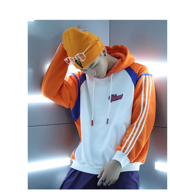 Oversize Patchwork Hoodies Mens Hip Hop High Street Hoodie Unisex Male Sweatshirt Cotton Pullover - Cosplay Infinity