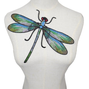 Big Dragonfly Iron On Patches for Clothing Embroidery DIY Applique