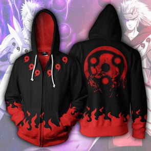 Anime Naruto Sharingan Red Uchiha Sasuke 3D Print Hoodies Sweatshirts Cosplay