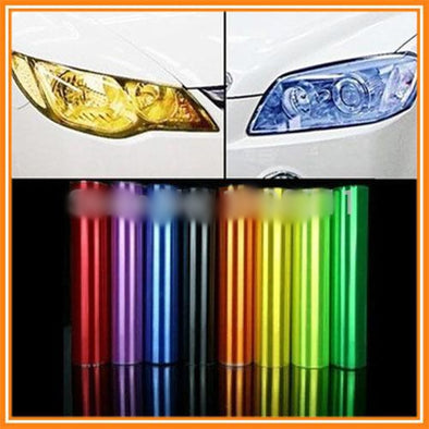 600cmX30cm/20ft*12in  5 color Available Fog Headlight Tail Light Tint Vinyl Film Wrap