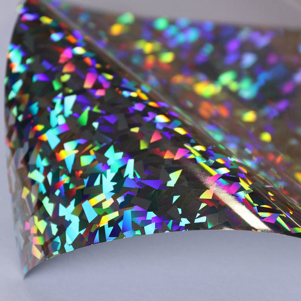 Holographic PU heat transfer vinyl sheets iron on transfer for clothes Width: 50cm, 19.6in