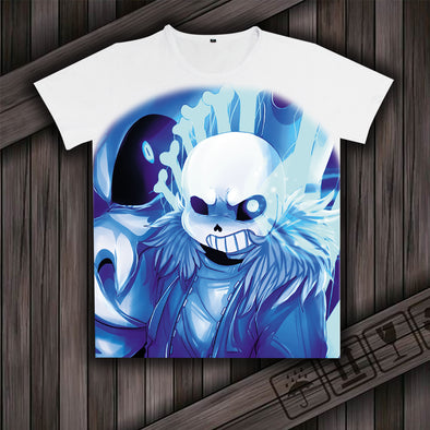 Games Undertale Sans And Papyrus Cosplay T-shirts Milk Silk Short Sleeves Shirt TOPS