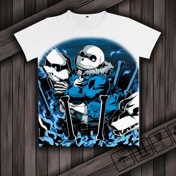 Games Undertale Sans And Papyrus Cosplay T-shirts Milk Silk Short Sleeves Shirt TOPS - Cosplay Infinity