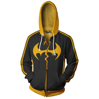 Men Clothing Superhero Movie Iron Fist Cosplay Hoodies 3D Printing Sleeve Zippers Sweatshirts Jacket - Cosplay Infinity