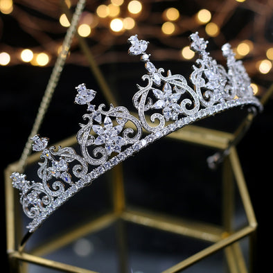 Zircon Wedding Crown Tiara Crystal Bridal Hair Accessories - Cosplay Infinity