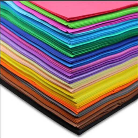 20pcs/ lot 50*50cm 1mm Thickness Scrapbooking Crafts Paper EVA Sponge Foam Paper
