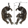 1 Pair Leopard Patches Sew On Clothing Embroidery Boxing