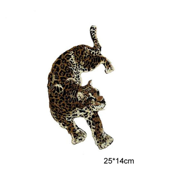 1 Pair Leopard Patches Sew On Clothing Embroidery Boxing - Cosplay Infinity
