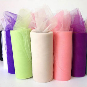 1PC Tulle Fabric Rolls Tulle Roll 15cm 25yards For Tutu Dress Clothes Curtains Wedding Party DIY Decorations
