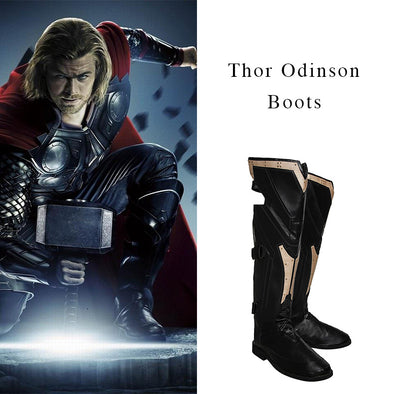Thor The Avengers Ultron Cosplay Shoes Men High Boots Custom Made - Cosplay Infinity