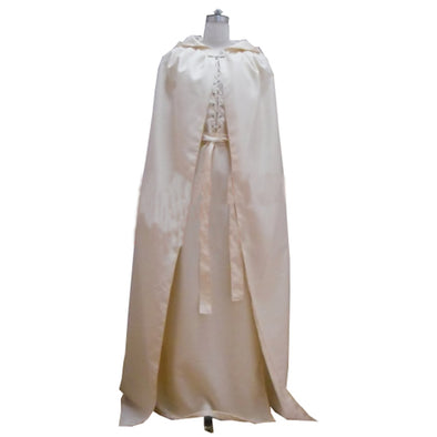 The Lord of the Rings Gandalf White Cloak Robe Cape For Men Halloween Cosplay Costume Custom Made