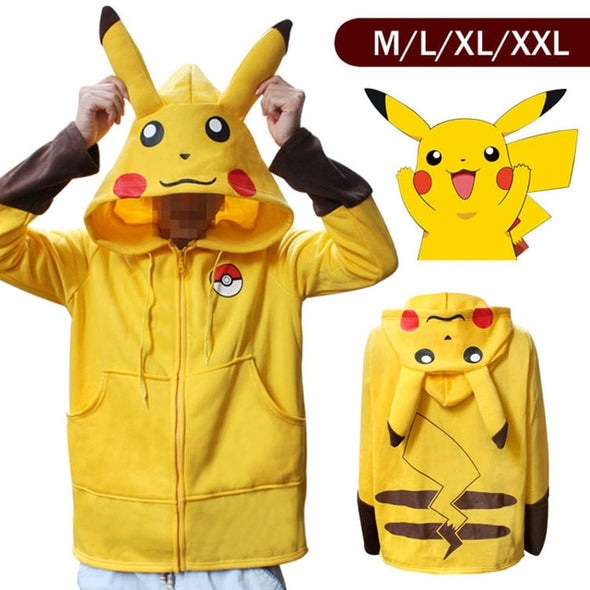 Anime Pocket Monster Eevee Pikachu Hoodies Sweatshirts Cosplay Costumes Hoodies Pokemon Sweater - Cosplay Infinity
