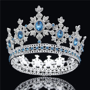 Luxury Crystal Tiaras and Crowns Bridal Headdress Royal King Queen