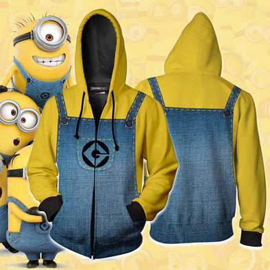 Minion Cosplay Costumes Minion Hoodies 3D Printed Sweatshirt Game Anime Jacket - Cosplay Infinity