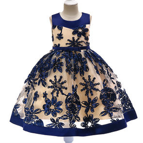 Flower Girl Wedding Dress 3D Embroidered Princess Gown - Cosplay Infinity