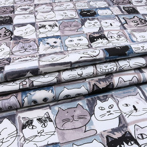Cat Upholstery Canvas Cotton Duck Fabric For DIY Pillow Bag Shoes Tablecloth Cushion Home Material