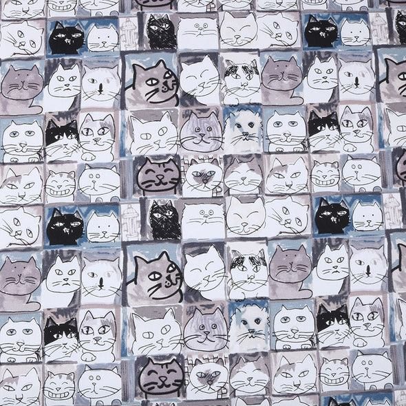 Cat Upholstery Canvas Cotton Duck Fabric For DIY Pillow Bag Shoes Tablecloth Cushion Home Material - Cosplay Infinity