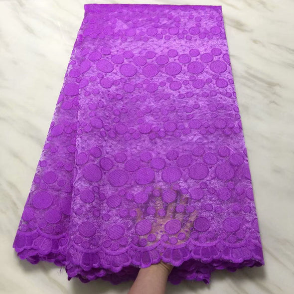 High Quality Mesh Nigerian Lace Fabrics Tulle Embroidered African Lace Guipure French Net Lace - Cosplay Infinity