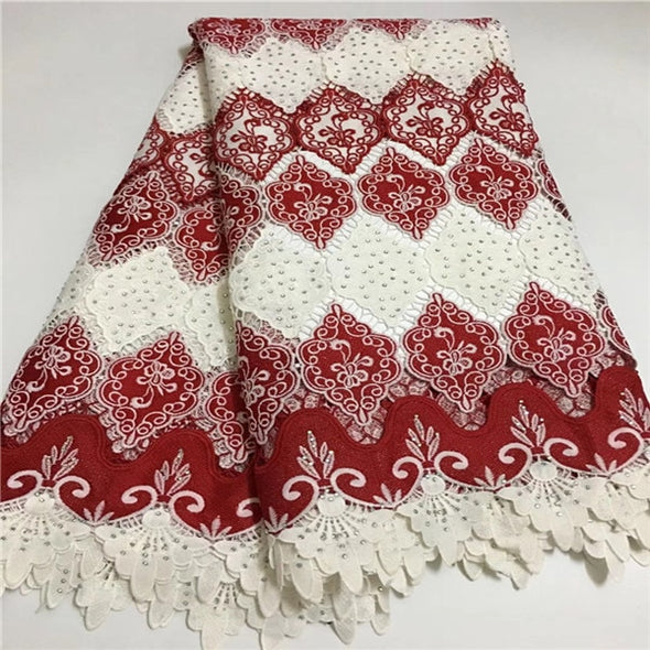 African Swiss Voile Lace High Quality French Guipure Lace Fabric With Stones African Lace Fabric For Wedding