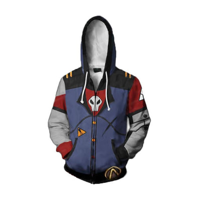 Men Adults Hip Hop Jacket Game Borderland Cosplay Hoodies Assassin Zero Costume 3D Print Sweatshirt Zipper Hooded - Cosplay Infinity