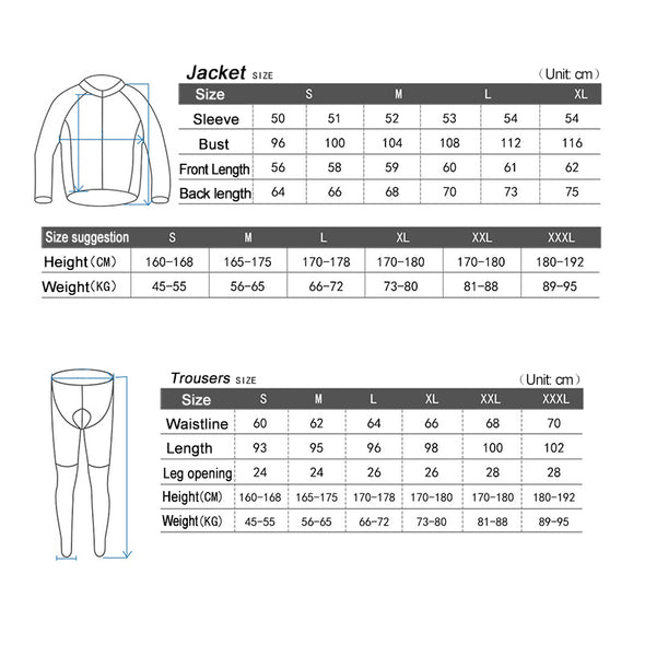 Zen Autumn Winter Men Bicycle Bike Clothing Long Sleeves Cycling Jersey Riding suits