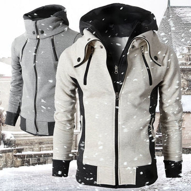 XS-3XL Men Hoodie Sweatshirts Assassins Creed Slim Fit Streetwear Fake 2 Pieces Hooded Coat Men Sweatshirt - Cosplay Infinity