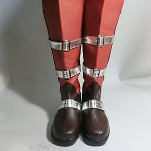 Final Fantasy Lightning Red Black Cosplay Boots - Cosplay Infinity