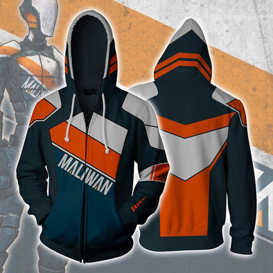 Borderlands 2 Assassin Zer0 Cosplay Costume 3D Print Zipper Hoodies Sweatshirt Jacket - Cosplay Infinity